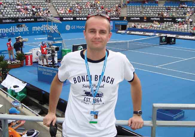 Na turnieju w Sydney, 2011 r.