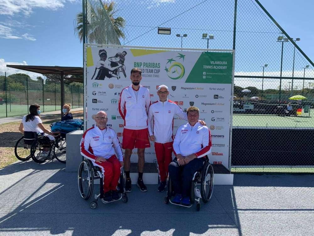 Reprezentanci Polski w tenisie na wózkach w portugalskiej Vilamourze.